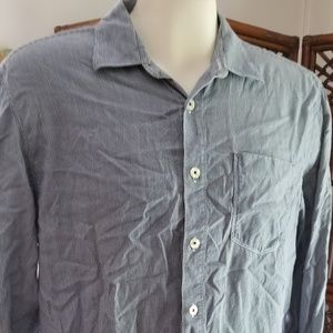 Vintage Tommy Bahama button front LS large